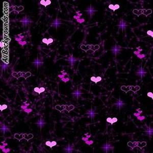Flying Purple Pretty Hearts Backgrounds - Twitter ...