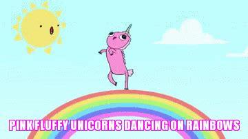 Fluffy on pink rainbows dancing unicorns Stream Pink