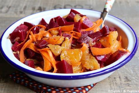set cuisine salade de betteraves oranges et carottes