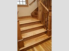 Custom Stair Treads and Risers Traditional Staircase