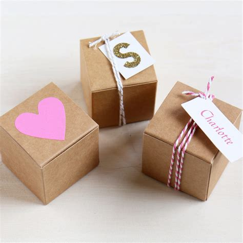 favour box  weddings parties cm square recycled box