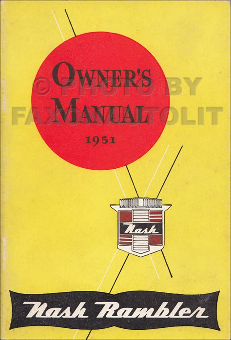 Nash Rambler Country Club Repair Shop Manual Original