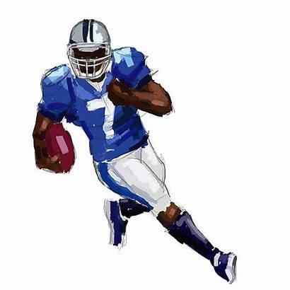 Football Player Illustrations American Clip Illustration Vector