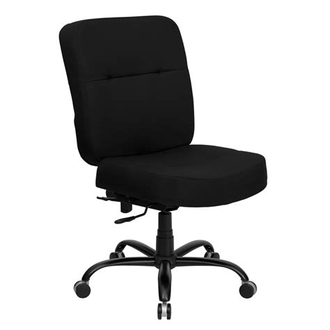 500 lb office chairs hercules 500 lb capacity big black fabric office