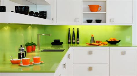 lime green and orange kitchen cr 233 dence cuisine plus de 50 id 233 es pour un int 233 rieur 9032