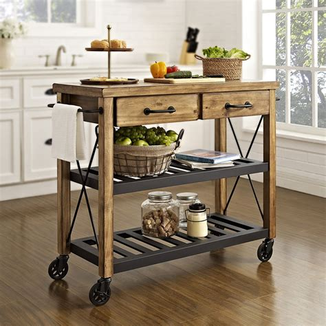 kitchen trolleys and islands roots rack rustic kitchen cart