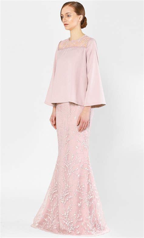 kurung kedah  full sakura lace  rose