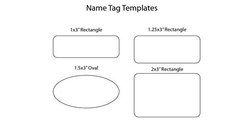 14 name badge templates images christmas name badge