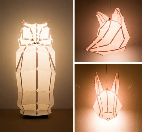 diy foldable paper animal lights  mostlikely colossal