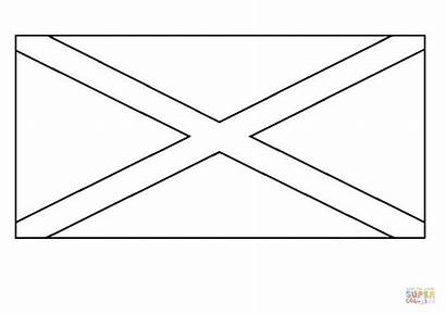 Flag Jamaican Coloring Pages Printable Drawing
