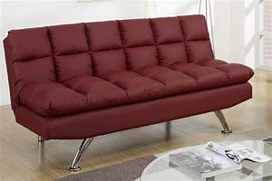 sofa bed twin size and poundex f red twin size leather With what size mattress is a sofa bed