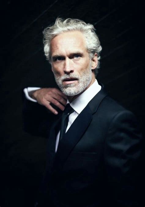 ingo brosch handsome gray haired model magazine idea