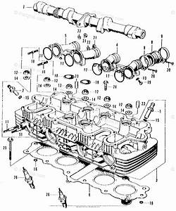 Honda Motorcycle Models With No Year Oem Parts Diagram For Cylinder Head  Camshaft