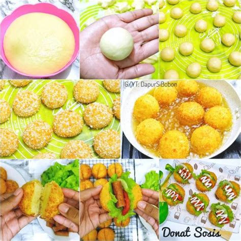 1 butir gula pasir : Resep Donat Sosis Crispy (Donat Sandwich Goreng)