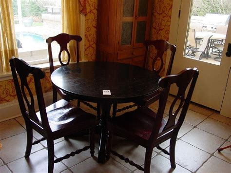 Aris Pedestal Table From Pottery Barn Black Wooden