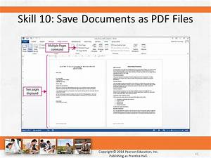 Skills for success with microsoft office 2013 volume 1 for Saved documents pdf