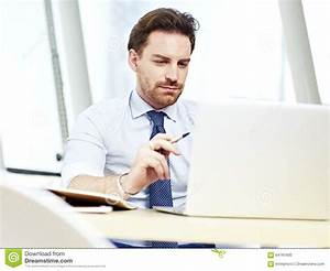 Business Person Working In Office Stock Photo - Image of ...