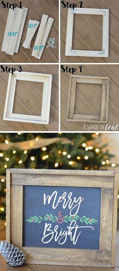 ideas  wood frames  pinterest diy frame