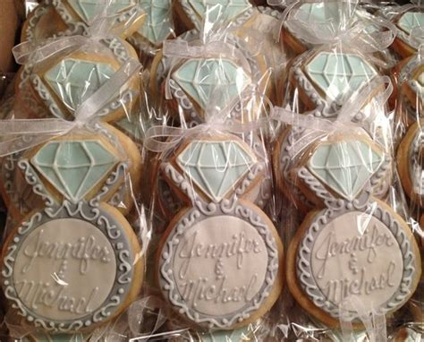 engagement ring cookie favors party ideas pinterest cookie favors inspiration and events