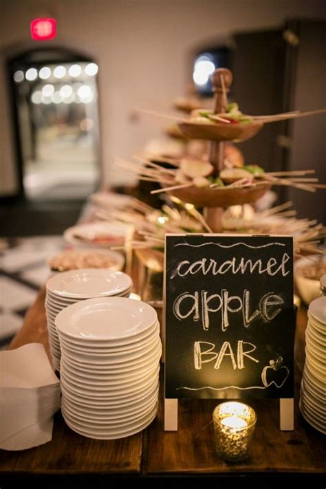 The Caramel Apple Bar At A Fall Wedding At Willowdale