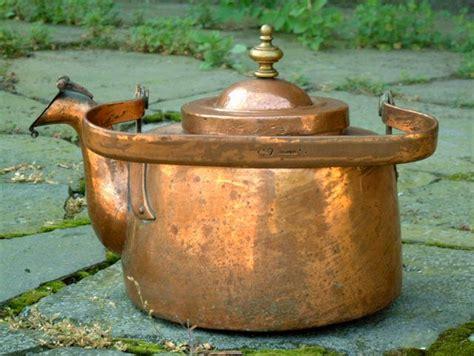 antique copper tea kettle circa  copper tea kettle tea kettle kettle