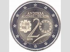 2 euro Andorra 2014 Andorra joined the Council of Europe