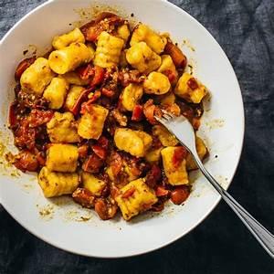 2-ingredient sweet potato gnocchi (vegan) - savory tooth