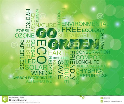 green word cloud green background royalty  stock