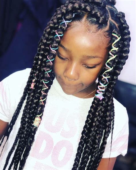 kid braid styles jumbo box braids black girls
