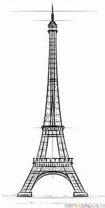 How To Draw The Eiffel Tower Step By Step Drawing Tutorials