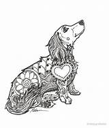 Dachshund Zentangle Coloring Pages Doxie Lovers Tattoo Haired Redbubble Dog Dachshunds Mandala Chihuahua Puppy Dapple Puppies Funny Quotes Works Daschund sketch template