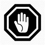 Stop Hand Sign Icon Icons Signs Signal