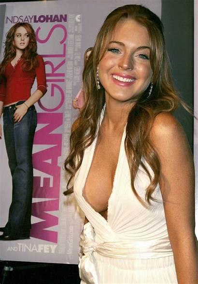 Lohan Lindsay Mean Slip Topless Nip Nipple