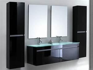 meuble salle de bain blanc laque pas cher salle de bain With meuble salle de bain blanc pas cher