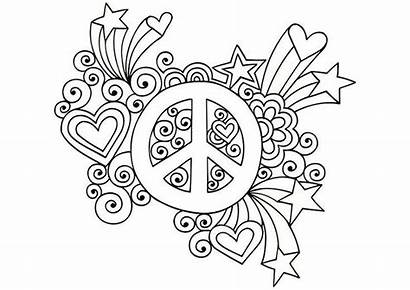 Coloring Pages Adults Random Peace Signs Colouring