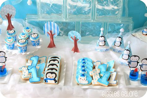 penguins polar bears winter onederland birthday party