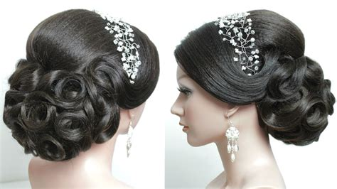 Bridal Hairstyle For Long Hair Tutorial. Prom Updo Step By