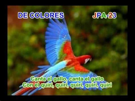 de colores song de colores song de colores