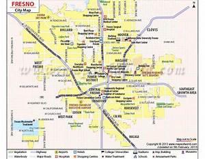 Buy Fresno City Map