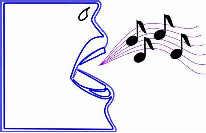 Singing Notes Mouth Clipart Illustration Vocal Cliparts