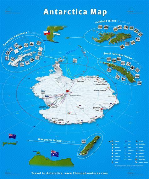 antarctica map chimu adventures  images