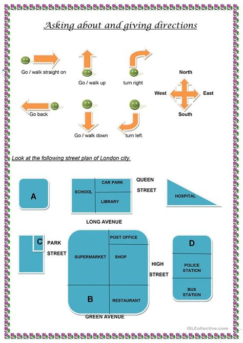 Asking Giving Directions 59 Free Esl Giving Directions Worksheets