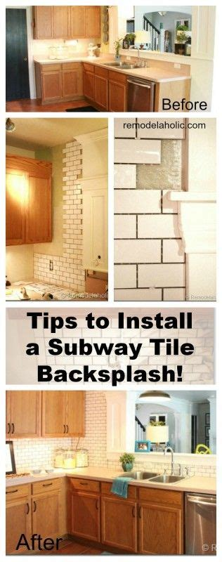 how to install subway tile kitchen backsplash decor hacks how to install a subway tile backsplash tutorial remodelaholic com backsplash