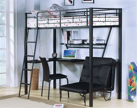 twin metal loft bed with desk black metal twin loft bed with desks and futon