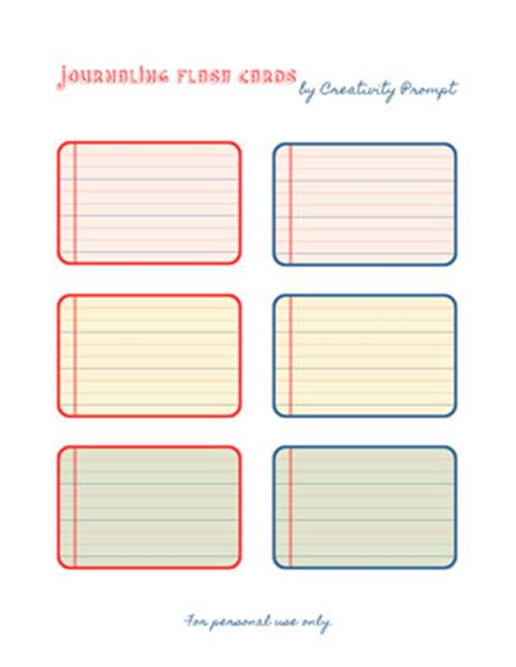 Friday Freebie  Journaling Flash Cards  Creativity Prompt