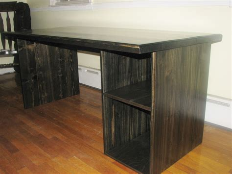 handmade custom modern ebony computer desk  custom