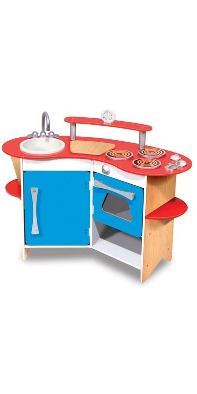 and doug play kitchen buy doug cook s corner wooden play kitchen at