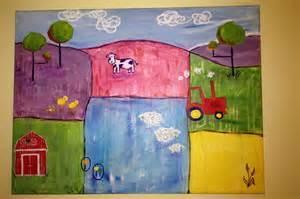 Kid Room Canvas Paintings Farm