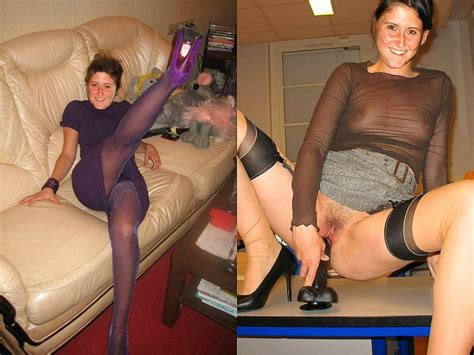 wife dressed undressed on clothes off