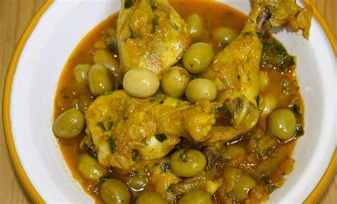 cuisine marocaine poulet aux olives recette marocaine tajine poulet aux olives cuisine du